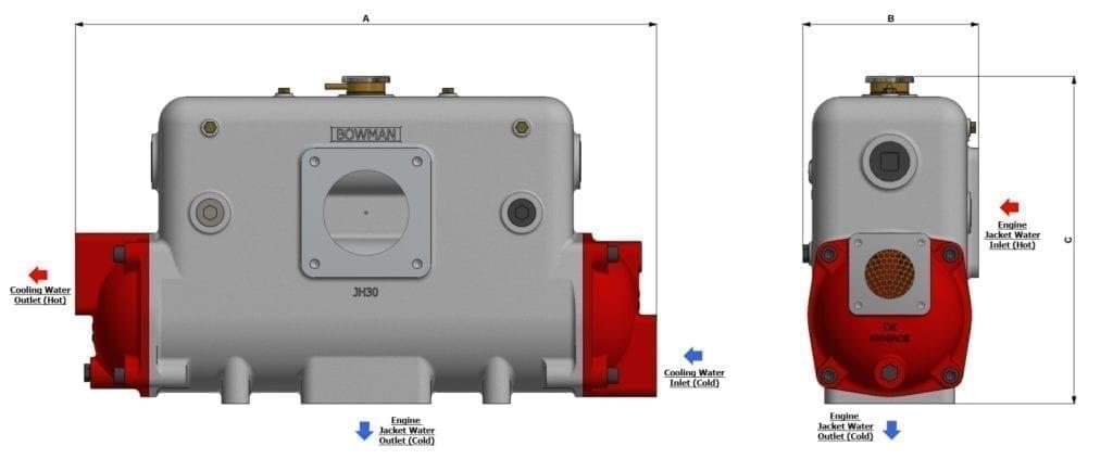 Header Tank Heat Exchanger Drawing