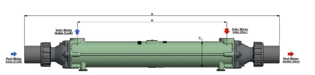 Wärmetauscher 30 kW Swimming Pool Schwimmbad
